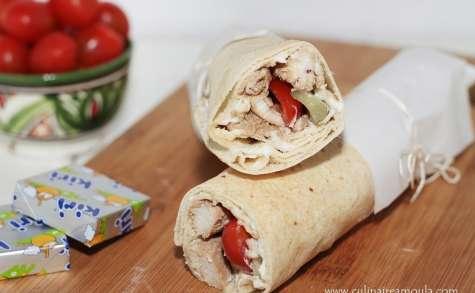 Sandwich au fromage kiri et au poulet