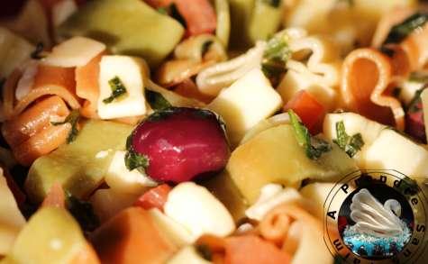 Salade de pâtes mozzarella tomates