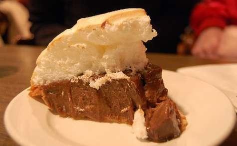 Tarte au chocolat, meringue à la guimauve