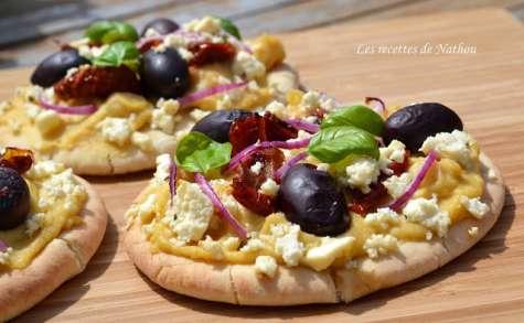 Pains pita à la grecque comme une pizza !