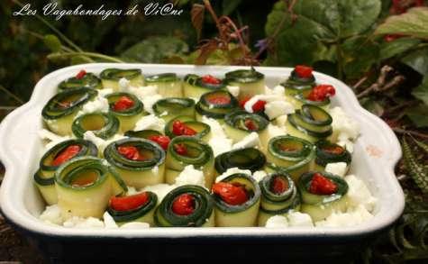 Gratin de courgettes aux tomates confites