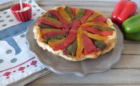 Tarte tatin aux poivrons et oignons rouges
