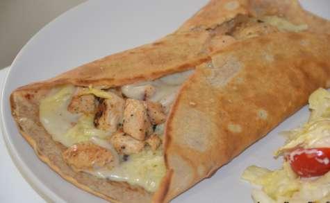 Crêpe salées poulet, champignon et béchamel
