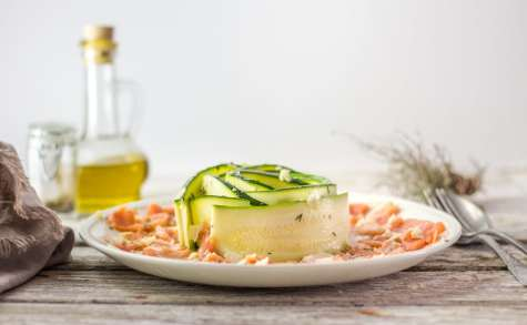 Carpaccio de saumon et courgette