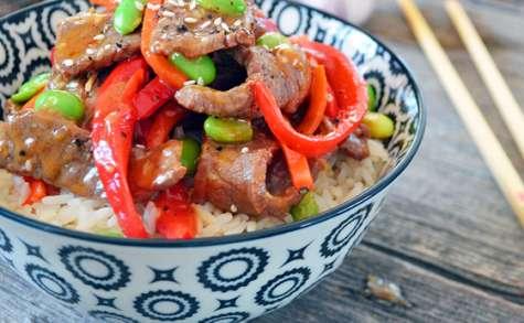 Sauté de Bœuf aux Sésame et Légumes
