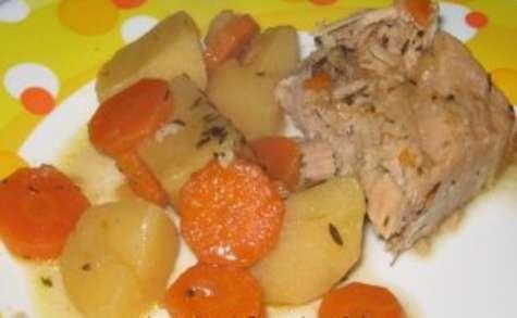 Rôti de porc en Mijoteuse