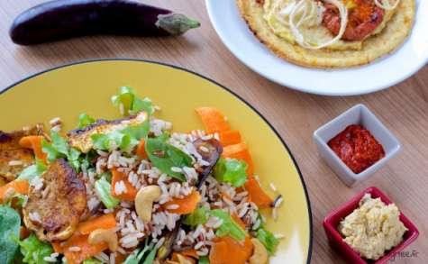 Une salade de riz sauvage