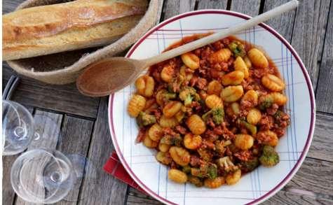 Gnocchis saucisse brocolis