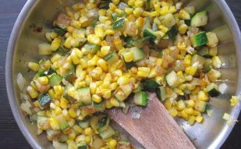 Poêlée de maïs et courgettes