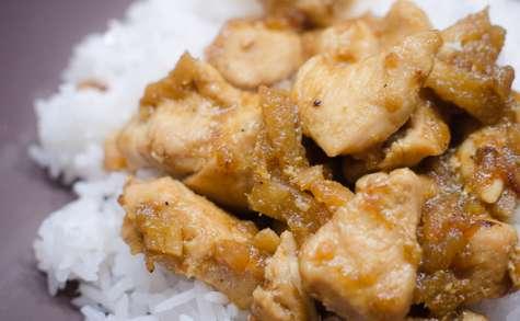 Poulet épicé au gingembre