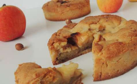 Tarte aux pommes, noisettes & miel