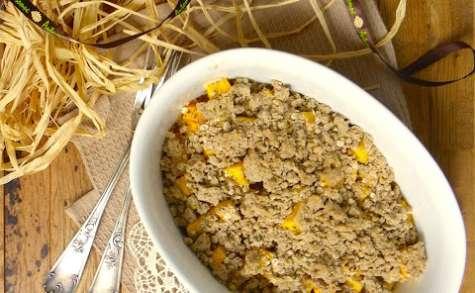 Crumble salé au sarrasin, coing et butternut à l'orange