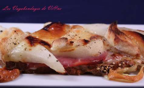 Tartines jambon-poire-rocamadour