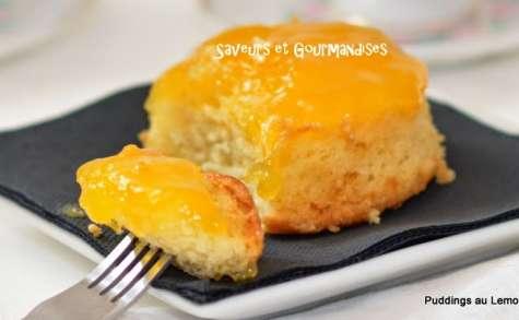Puddings au lemon curd.