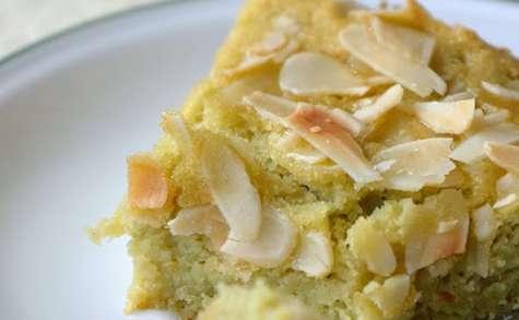 Fondant aux amandes et à la pâte sucrée de pois cassés