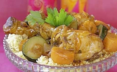 Pilons de poulet en couscous