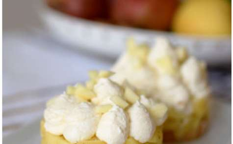 Sablés aux pommes et chantilly caramel beurre salé