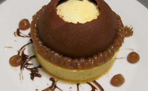 Tartelette vanille, marron et chocolat façon MontBlanc