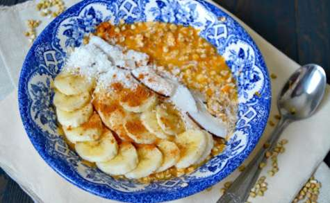 Overnight porridge au butternut, sarrasin et cannelle
