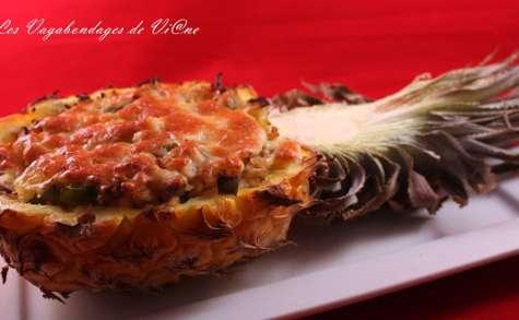 Ananas farcis à la Mexicaine