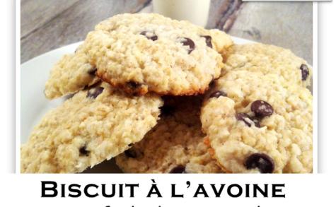 Biscuit à l'avoine et brisure de chocolat noir et noix de coco râpé