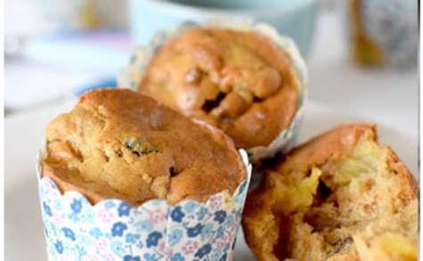 Muffins aux pommes et aux fruits secs