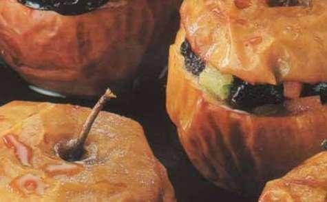 Pommes farcies aux pruneaux d'Agen et sirop d'érable