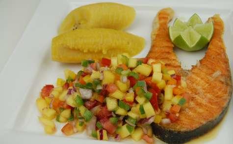 Saumon grillé salsa de mangue