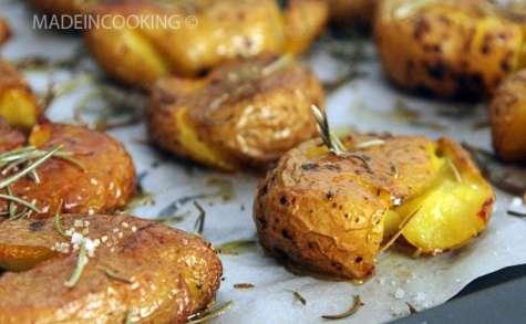 Pommes de terre écrasées croustillantes