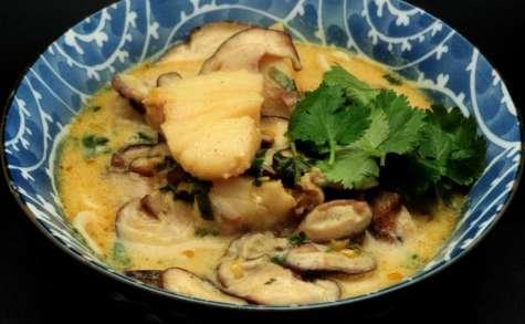 Soupe de poisson au lait de coco