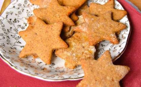 Sablés de Noël vegan à l'orange, amande, épices et épeautre
