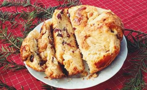 Brioche aux cranberries et chocolat blanc