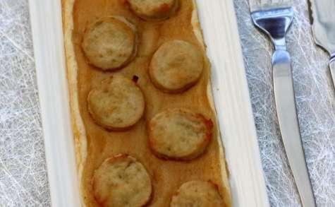 Tartelette au boudin blanc et pommes