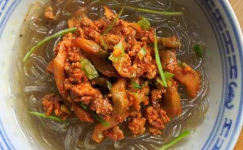 Soupe de vermicelles de patate douce