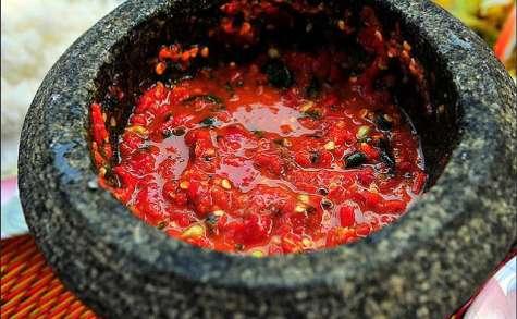 Sauce sambal belacan - chili à la pâte de crevettes