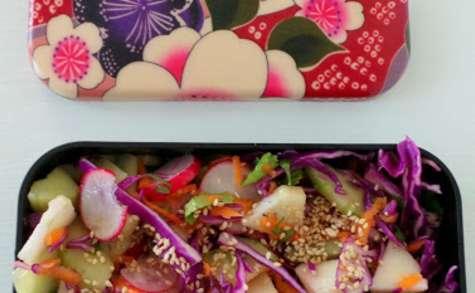 Bento de salade au chou rouge