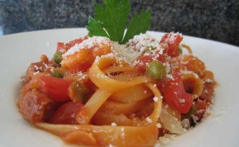 One pot pasta aux gambas