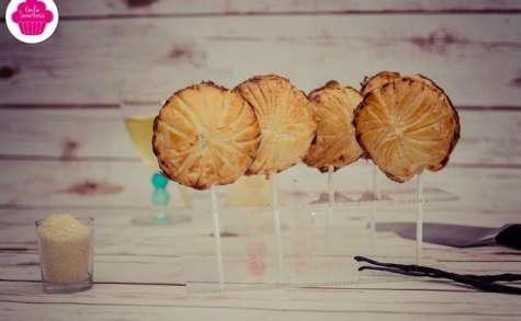 Sucettes de mini-galette à la frangipane