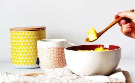 Porridge noix de coco et ananas