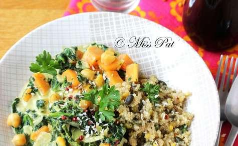 Curry végétarien de courge au quinoa
