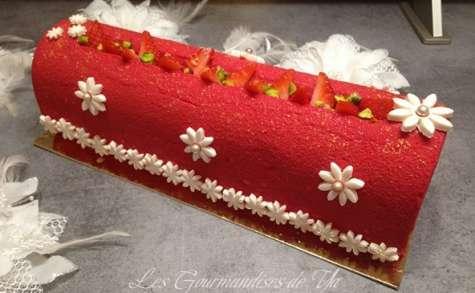 Bûche fraisier