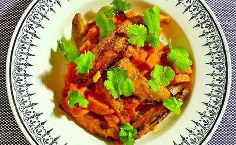 Curry de patate douce et aubergine en cocotte