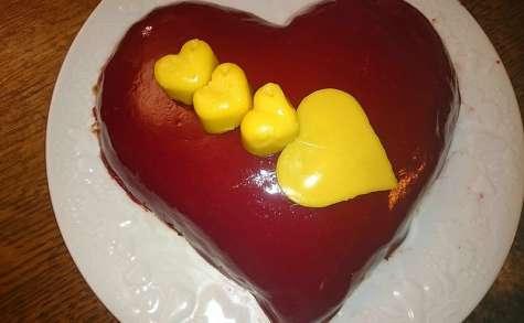Mousse au chocolat coeur cupidon