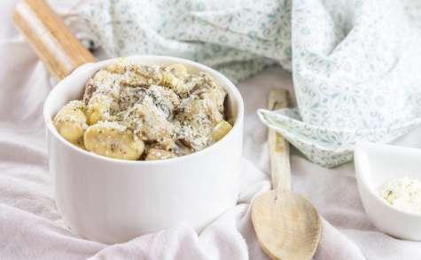 Gnocchis aux champignons crème de parmesan