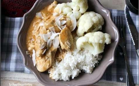 Poulet à l'indienne curry coco