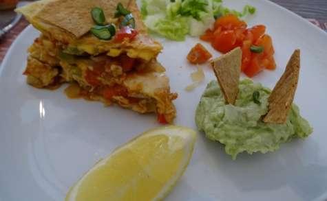 Quesilladas à la mexicaine et son guacamole
