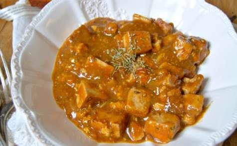 Carbonnade flamande au tofu fumé