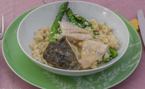 Turbot à l'orange et au risotto