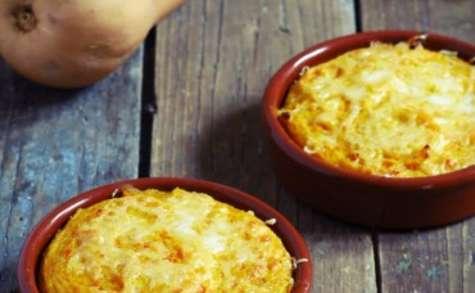 Petits gratins de butternut à la polenta