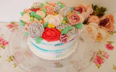 Layer cake fleuri